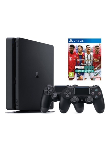 Sony Sony PS4 Slim 500 GB Oyun Konsolu + 2. PS4 Kol + PS4 PES 2021 Siyah